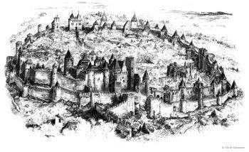 La cité de Carcassonne Poster 350