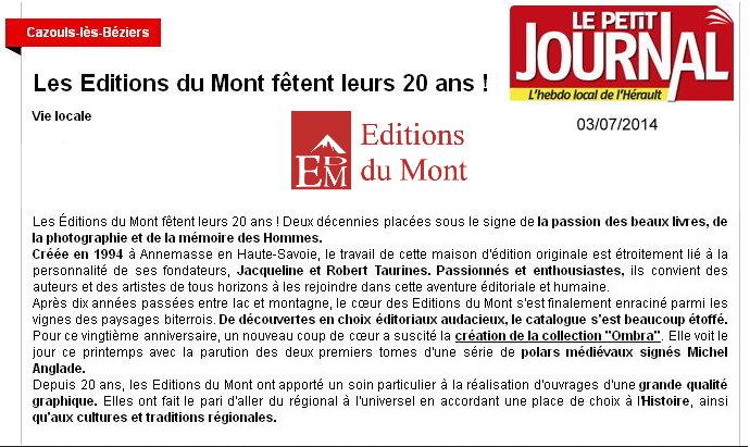 20° anniversaire - Petit Journal 1