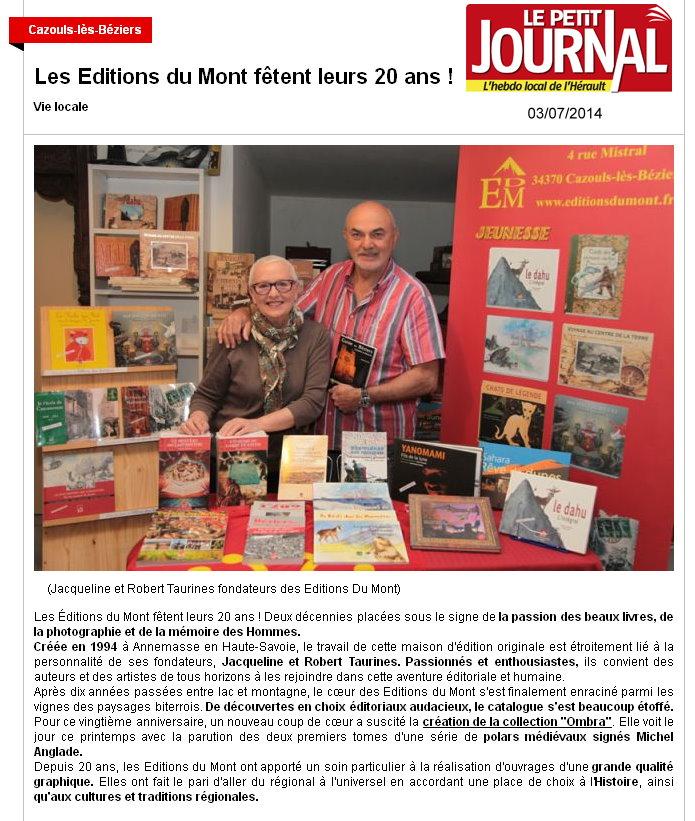 20° anniversaire - Petit Journal