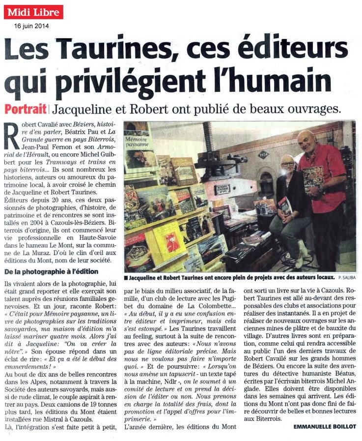 Midi Libre 16-06-2014