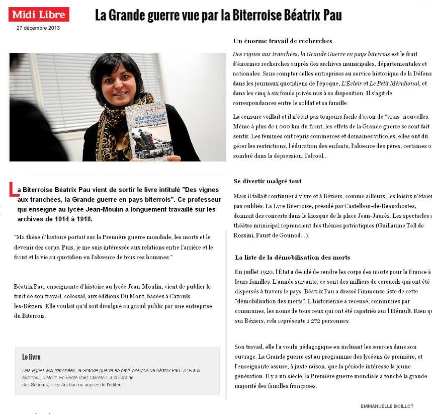 Midi Libre 27/12/2013