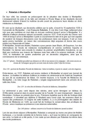 Rabelais à Montpellier