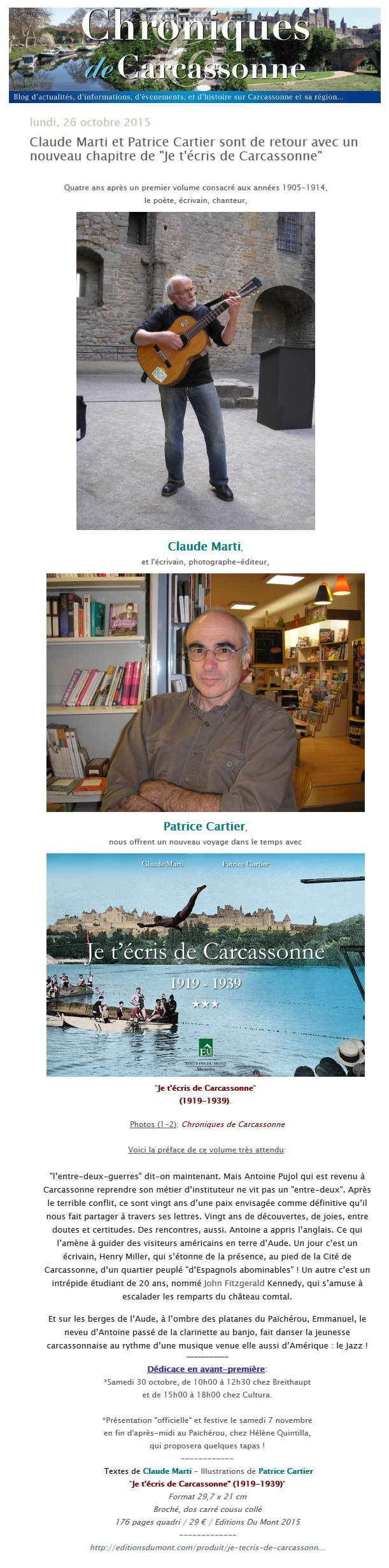 Je t'écris de Carcassonne 3
