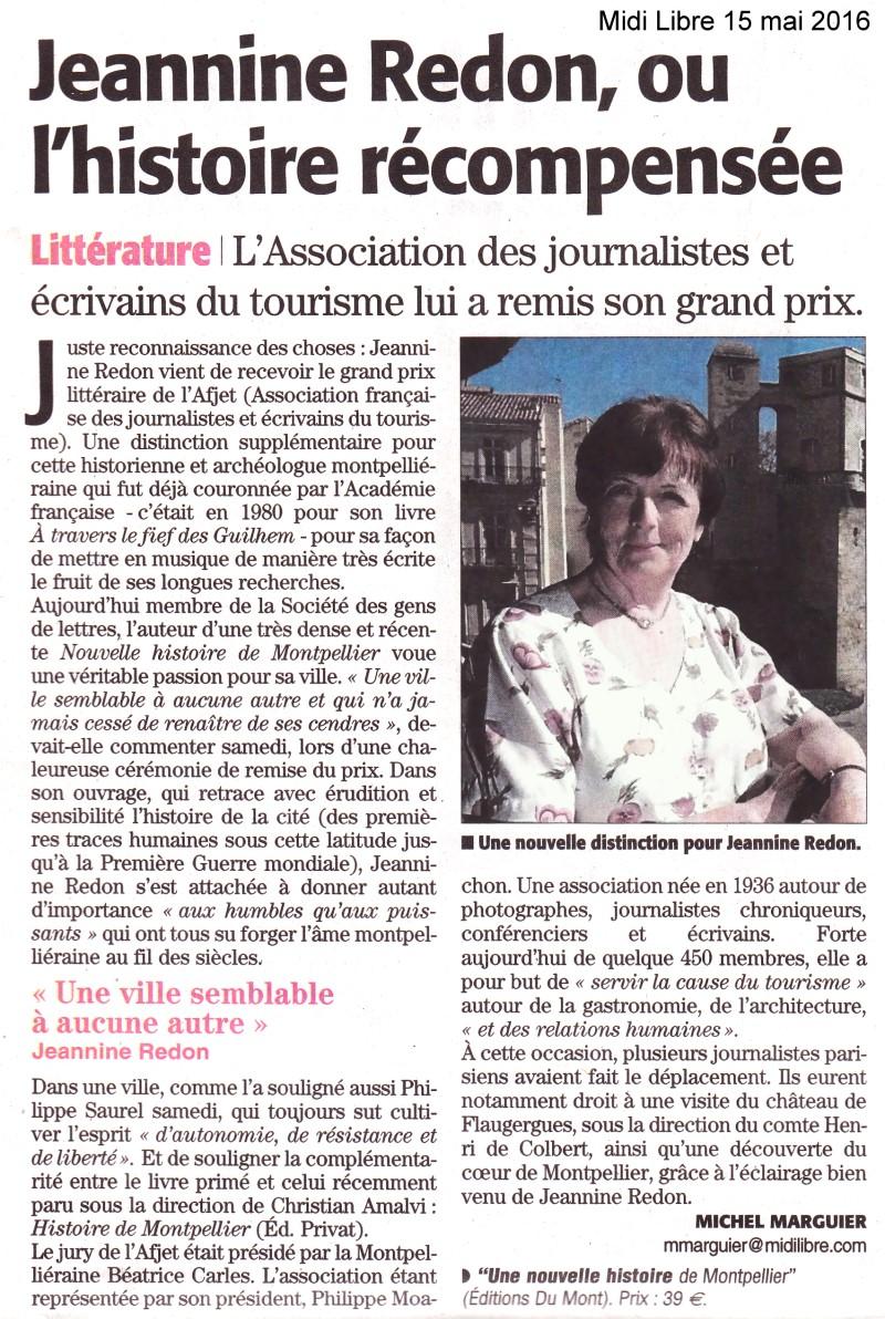 Jeannine Redon - AFJET Midi Libre